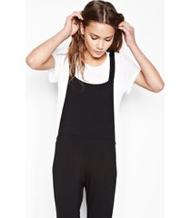 paco overall pants w/shirring - black xs