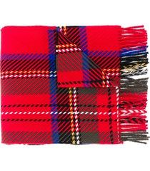 mackintosh royal stewart tartan scarf - red