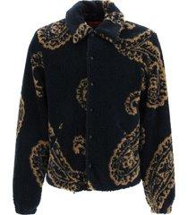 fourtwofour on fairfax teddy paisley jacket