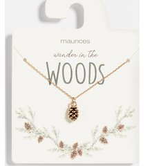 maurices womens dainty pinecone necklace