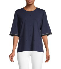 kobi halperin women's livia embellished elbow-sleeve top - black - size s