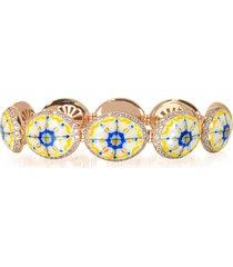 azhar designer bracelets, capri silver, zircon and enamel bracelet