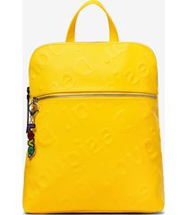 logo in relief backpack - yellow - u