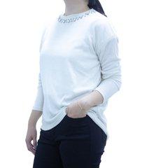 sweater  blanco design plus