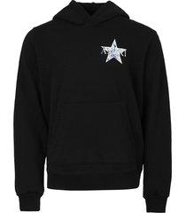 paisley star hoodie black