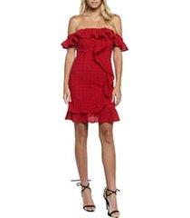 women's bardot jojo flounce one-shoulder dress