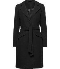 vivicki wool coat/su- noos wollen jas lange jas zwart vila