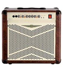 cubo amplificador compacto para violão 1x10 pol oneal ocv-210x marrom