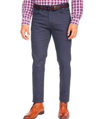 pantalón casual azul guy laroche