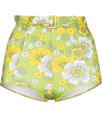 dodo bar or pamela high-waist floral print bikini bottoms - green