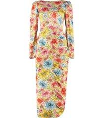 alexachung adeline printed satin sheath dress