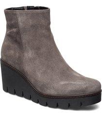 ankle boot shoes boots ankle boots ankle boot - heel grå gabor