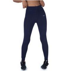 calça legging mizuno sky run - feminina - azul escuro