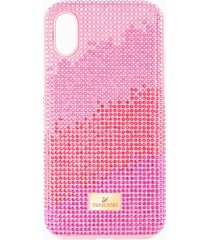 custodia per smartphone con bordi protettivi high love, iphoneâ® xr, rosa