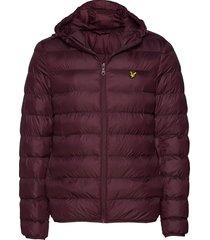 lightweight puffer jacket gevoerd jack rood lyle & scott