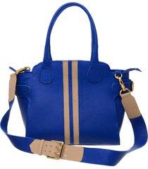 bolsa bw em couro ref 304 azul