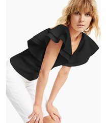 inc ruffle-sleeve pullover sweater, created for macy's