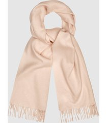 reiss saskia - lambswool cashmere blend scarf in pale pink, womens