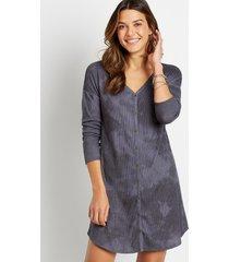 maurices womens gray tie dye button down mini shift dress