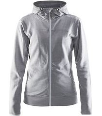 craft jas leisure full zip hood women grey melange