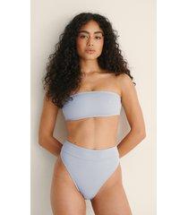 na-kd swimwear bikinitrosa med hög midja - grey