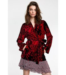 alix the label 205464680 ladies knitted big bull rib kimono