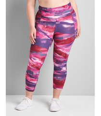 lane bryant women's livi high-rise livi soft capri legging with pockets 38/40 desert dreamscape print