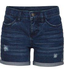 shorts di jeans ricamati (blu) - rainbow