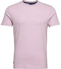 vintage logo emb tee t-shirts short-sleeved rosa superdry