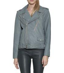 walter baker women's kingsley notch collar jacket - steel blue - size xs