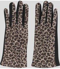 guantes touch animal print negro baziani