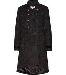 annabell coat yllerock rock svart cream