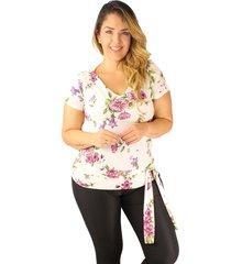 modas de blusas 2019 nueva coleccion adulto femenino blanca estampada