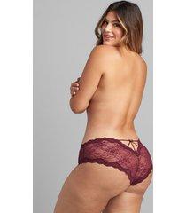 lane bryant women's lace strappy-back cheeky panty 26/28 zinfandel
