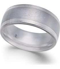 men's bright-edge cobalt ring