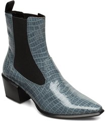betsy shoes boots ankle boots ankle boot - heel blå vagabond