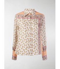 chloé floral paisley print shirt