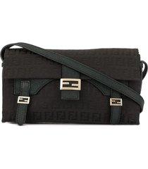 fendi pre-owned zucca pattern hand tote bag - black