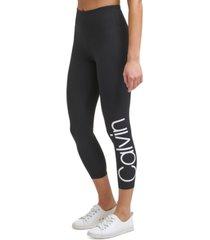 calvin klein performance women's high-waisted logo leggings