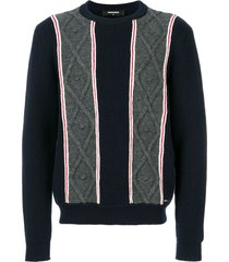 dsquared2 chunky knit sweater - blue