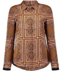 blouse bruin