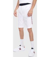 pantaloneta blanco-rojo-azul tommy hilfiger sports