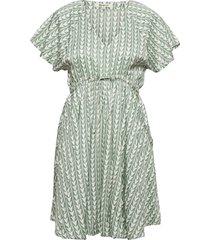 geo dress kort klänning grön rip curl