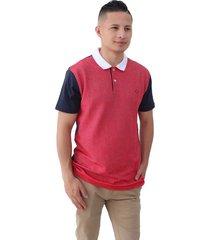 camiseta azul por rojo oscar de la renta tipo polo a9kntp478-bbs/chy