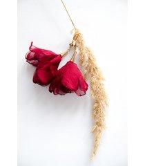 lekkie bordowe kolczyki-kwiaty