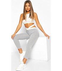 strapping legging, grey