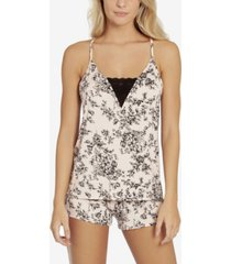 linea donatella toile buds camisole and short set