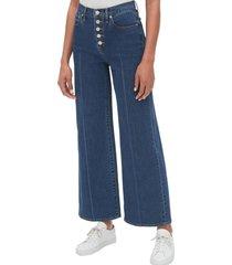 jeans wide leg medium indigo azul gap