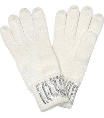marina d'este designer women's gloves, white women's gloves w/sequins