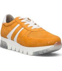 woms lace-up låga sneakers gul tamaris